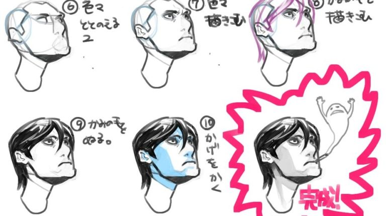 マイケルハンプトン先生の書籍を利用して 顔の描き方を考えてみる
