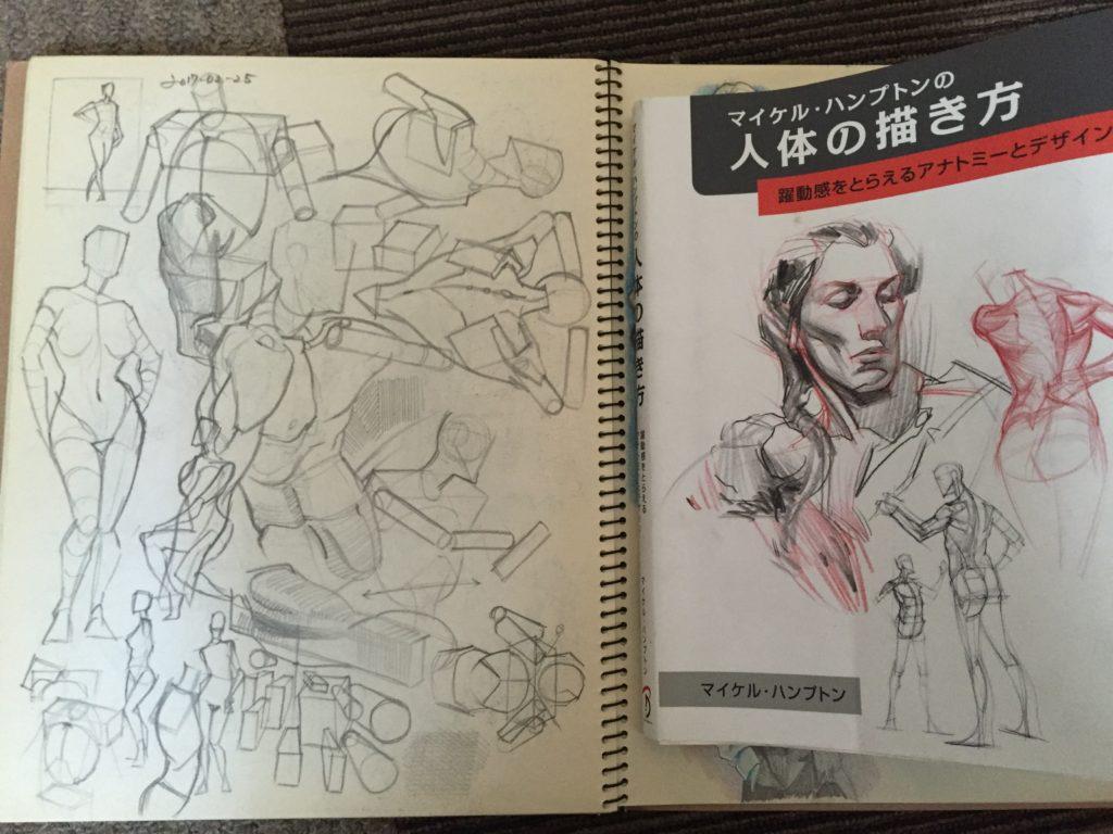 「人体の描き方」見たもの想像したものを描きやすくなる練習