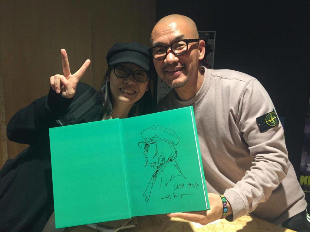 KimJungGi氏とツーショット!似顔絵を描いてもらってしまった!